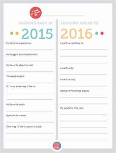 free printable family new year39s resolutions year in With new years goals template