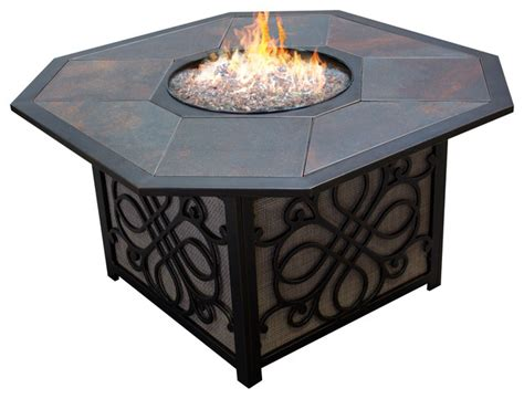 agio fire pit table agio vista alumicast sling gas fire pit table with