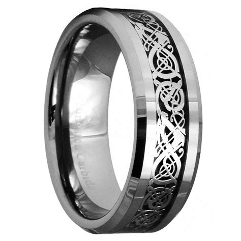 celtic tungsten carbide ring mens jewelry wedding band silver new 7 ebay