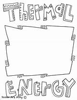 Energy Coloring Thermal Pages Printable Printables sketch template