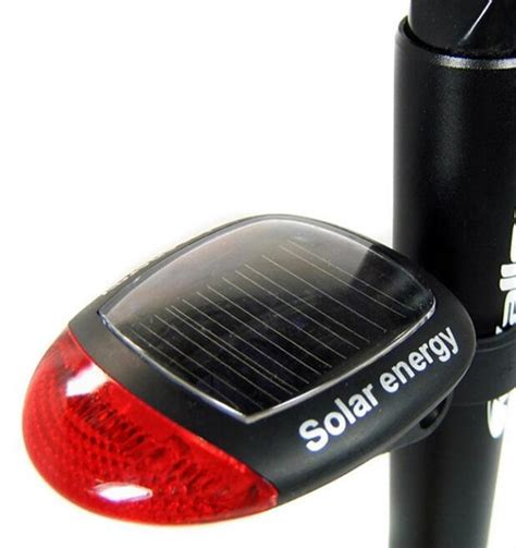 dz844 solar powered led rear light for