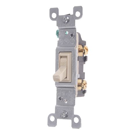 light switch single pole 120v 15 hog slat