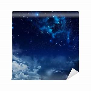 beautiful background of the night sky with stars Vinyl ...