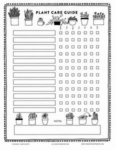 Printable  Plant Care Guide  U2014 The Paper   Craft Pantry