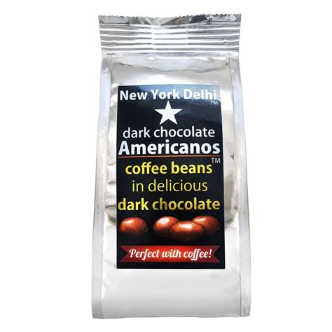 Find more about our tasting criteria in our testing notes. Americanos Dark Chocolate Coffee beans 63g Pack - New York Delhi - World Deli Taste.