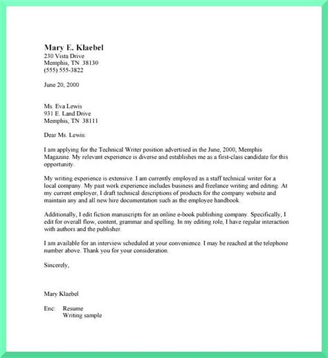 Resume Cover Letter Format by 7 Best Sle Cover Letters Images On Cover