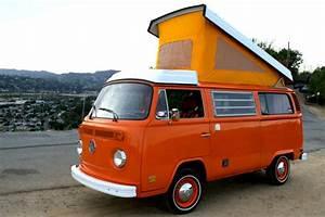 Vw 1974 Orange Plaid Bus    Camper