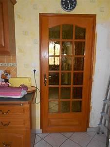 porte avec petit carreaux de verre a donner a haudainville With porte de garage avec porte interieur petit carreaux