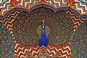 Peacock, Door, In, Jaipur, U0026, 39, S, City, Palace