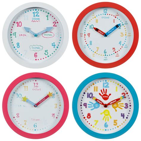 learn    time clock red home decor bm stores