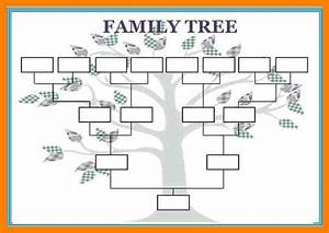 12 blank family tree template aplication format With template for a family tree chart