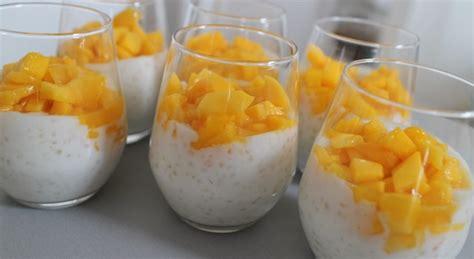 tapioca au lait de coco mangue et alo 233 vera my beautiful dinner