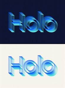 Holo, Text, Effect
