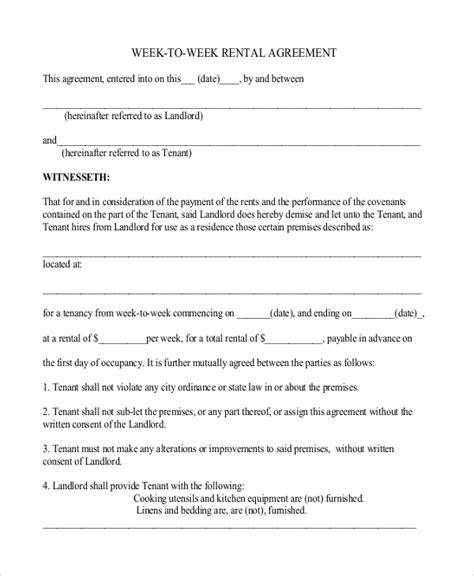 simple rental agreement   word  documents