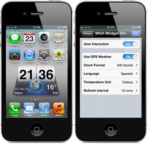 widgets for iphone how to get the popular android miui weather widgets on