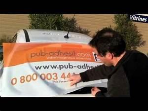 Autocollant Personnalisé Pour Voiture : pose sur voiture d 39 autocollant microperfor publicitaire ~ Voncanada.com Idées de Décoration
