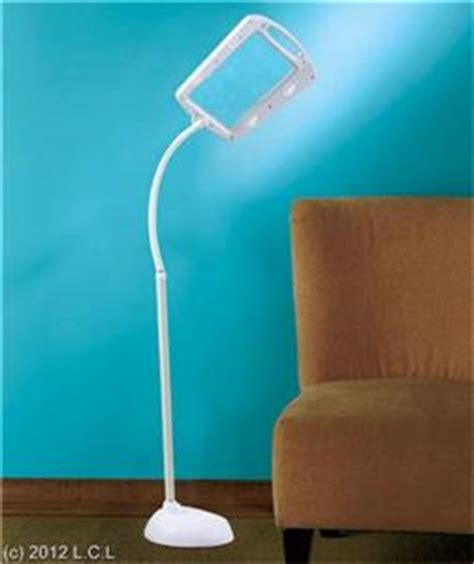 full page bright led 5x large lens magnifier floor lamp