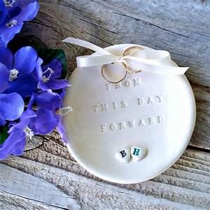 Ring bearer two hearts natural white ring bearer bowl for Wedding ring holder for ceremony