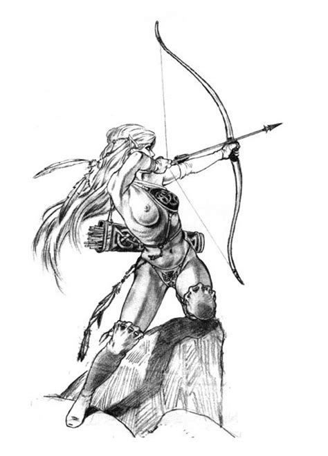 The Signal - Female Archer - Elmore Masterworks