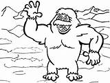 Yeti Coloring Disney Pages sketch template