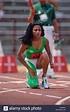 Florence Griffith Joyner compitiendo en el 1988 nosotros pista olímpica y ensayos de campo Foto & Imagen De Stock: 48797292 - Alamy