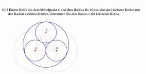 Radius Vom Kreis Berechnen : berechnen sie den radius r der kleineren kreise mathe mathematik ~ Themetempest.com Abrechnung