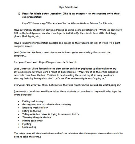 sample high school lesson plan templates