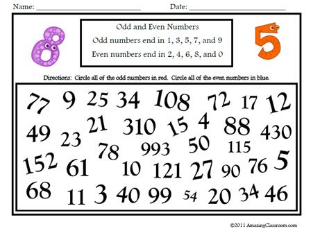 math numbers operations recognizing numbers