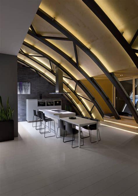 Anthrazit Farbe In Moderner Dachgeschosswohnung