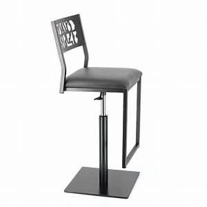 Tabouret Industriel Reglable : tabouret moderne en m tal hauteur r glable style industriel slide 4 pieds tables chaises ~ Teatrodelosmanantiales.com Idées de Décoration