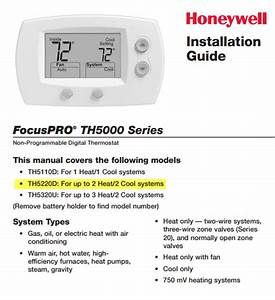 Honeywell Thermostat Th5220 Wiring Diagram