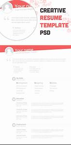 resume template free psd With creative resume design templates