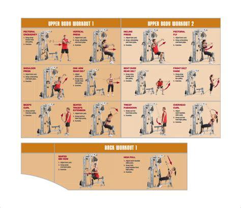 sample workout charts sample templates