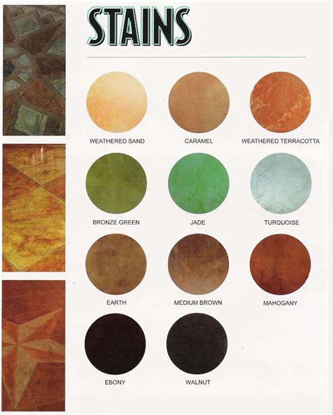 Ultimate Concrete, Concrete Acid Stain Color Chart