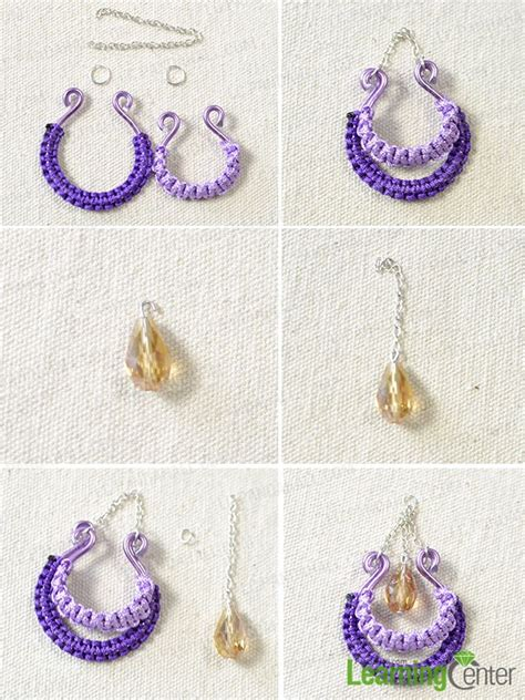 how to make thread chandelier earrings