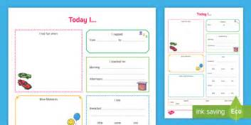 Today I Daily Diary Food And Nap Record  Daily Sheet