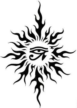 22 Awesome Tribal Sun Tattoo