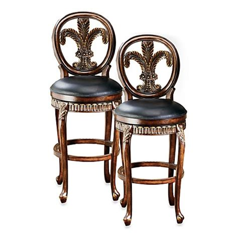 fleur de lis bar stools buy fleur de lis decorations from bed bath beyond
