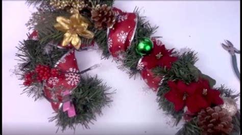 candy cane wreath diy dollar tree youtube
