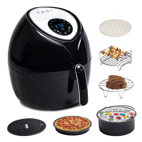fryer air accessory kit yedi digital package total recipes deluxe screen houseware fryers rated qt amazon endless xl 8qt freebumble