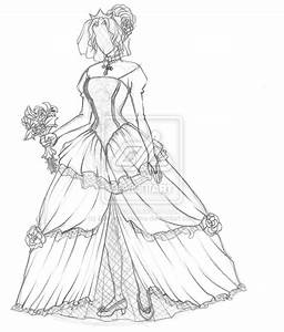 wedding dress drawing coloring pages With how to draw a wedding dress