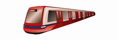 Metro Train Clipart Transport Subway London Rail