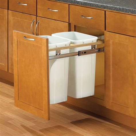in cabinet trash can roll out knape vogt 18 in h x 18 in w x 23 in d steel in