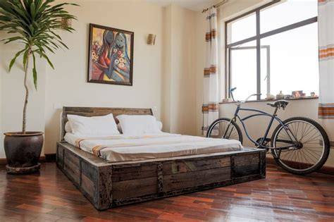 Rustic industrial bed by Rusty Fundi   Raw Industrial