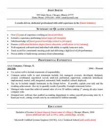 general resume templates free general resume template sle resume templates resume outline and sle resume