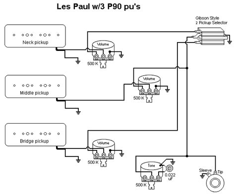 3 P90 Wiring Diagram by Stock Les Paul With 3 P90