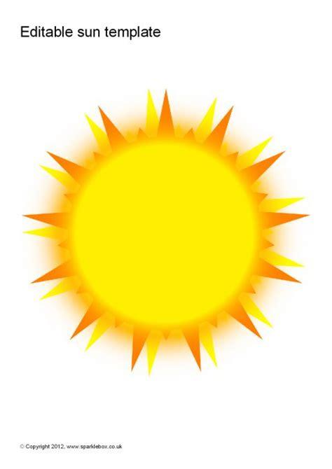 Sun Template Editable Sun Templates Sb8234 Sparklebox