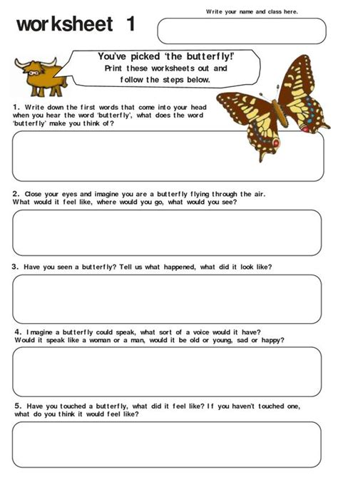 butterfly worksheet quot summer c quot pinterest