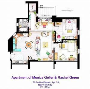 Apartment of Monica Geller & Rachel Green http://www ...