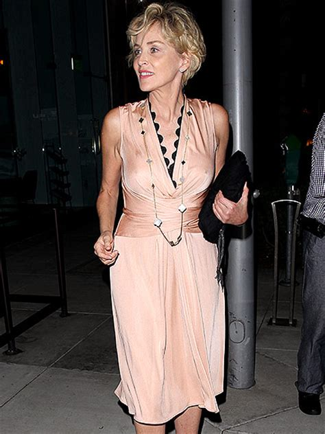 Sharon Stone, 57, Looks Incredible in Beige Dress: Photo